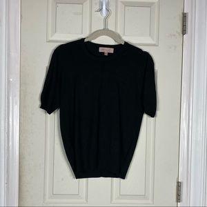 Philosophy S sweater black short sleeve euc